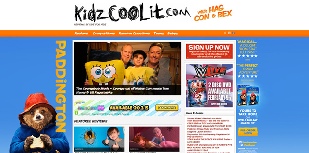 Kidz Cool It homepage takeover