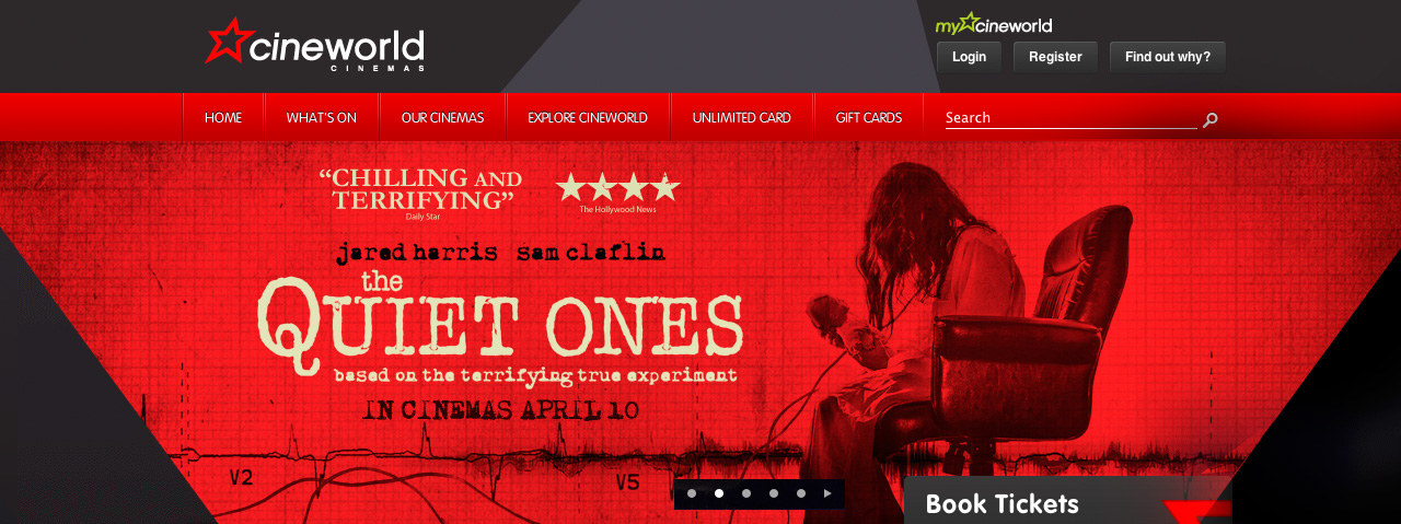 Cineworld carousel banner