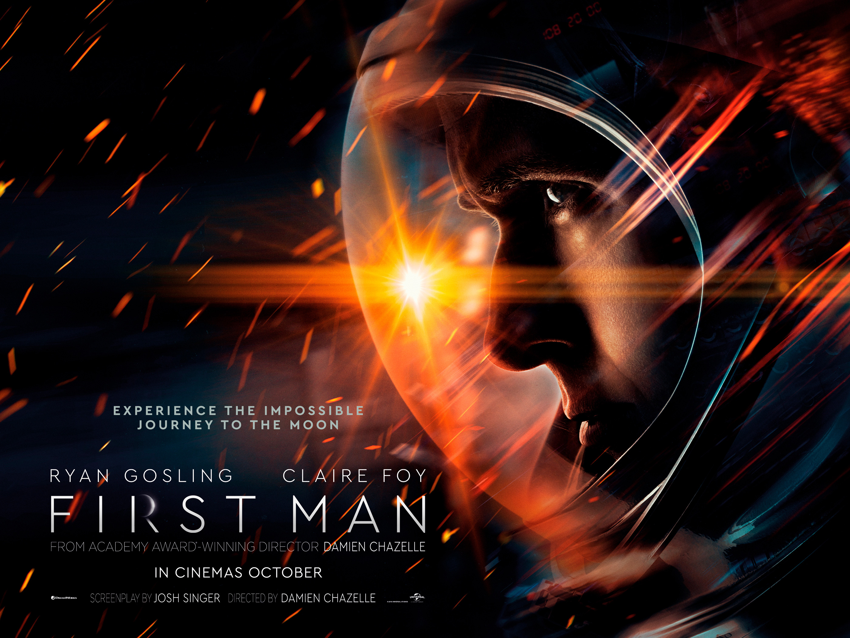 「First Man 2018 uk quad poster」的圖片搜尋結果